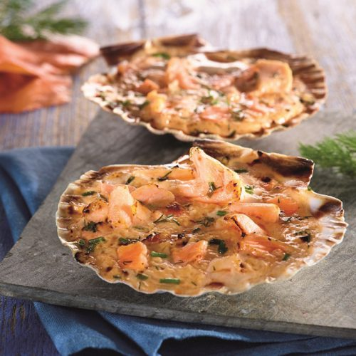 Coquille aux 2 saumons