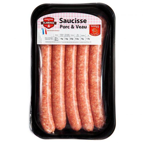 Saucisses Porc et Veau 70g x5